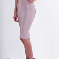 Bandage Pencil Skirt - Light Taupe @ LushFox.com :: Current Fashion Trends & Styles