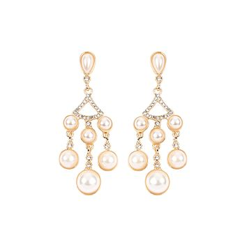 MYE1030 - PEARL CHANDELIER DROP POST EARRINGS