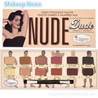 1pcs Duty Arrivals The Balm Cosmetics 12 Colors Nude Dude Volume 2 Eyeshadow Palette Thebalm Make Up Face Makeup base Eye shadow