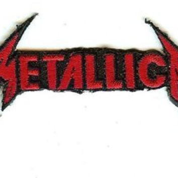 Metallica Iron-On Patch Small Red Logo