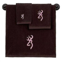 Browning Buckmark Brown Towel Set