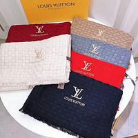 Louis Vuitton LV Autumn Winter Trending Women Men Comfortable Cashmere Cape Scarf Scarves Shawl Accessories