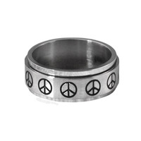 Peace Spinner Ring on Sale for $12.99 at HippieShop.com