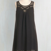 Long Shift Endless Entertainment Dress in Black by ModCloth