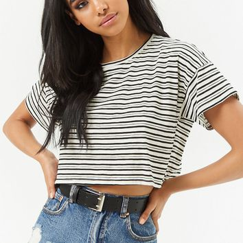 Striped Cropped Tee