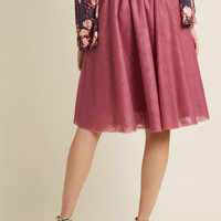 Tulle of the Trade A-Line Skirt in Mauve