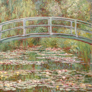 Bridge Over A Pond Of Water Lilies - Claude Monet