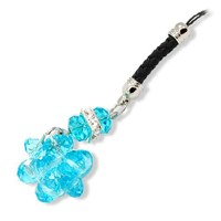 Gino Crystal Style MP3 PDA Mobile Cell Phone Charm Strap Blue