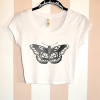 Harry Styles Butterfly Tattoo One Direction Crop Top Shirt #81