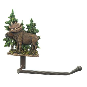 Moose with Trees Toilet Paper Holder