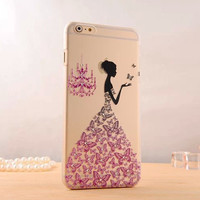 Beautiful Elegant woman phone case for iphone 6
