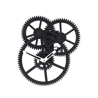 Triple Gear Wall Clock - Kikkerland Design Inc