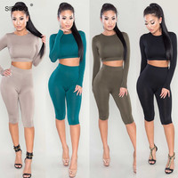 Playsuit Long sleeve bandage Romper Bodycon Long Night Club Two Pieces Outfit