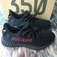 Adidas Yeezy Boost 350 V2 Black Red Bred CP9652 100% authentic