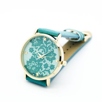 Lace strap watch (3 colors)