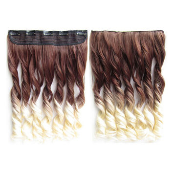 Gradient Ramp Hair Extension 5 Cards Wig     6T613#