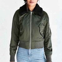Silence + Noise Pilot Bomber Jacket - Urban Outfitters