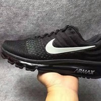 NIKE Trending Fashion Casual Sports Shoes AirMax section Black