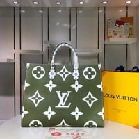 Kuyou Lv Louis Vuitton Gb2974 Onthego Green Print Handbags M44571 41.0x34.0x19.0 Cm