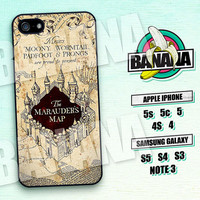 Harry Potter Marauders Map Phone 5 Case, iPhone 5S Case, Harry Potter Marauder's Map iPhone 5C Case, iPhone 4 Case, iPhone 4s Case - hp01