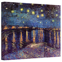 Art Wall Vincent Van Gogh ''Starry Night Over The Rhone'' Canvas Art