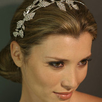 Regina B. -- T431 Crystal Vine Headband | Wedding Jewelry | Bridal Headpieces