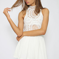 Mystery Love Playsuit - White