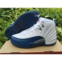 "Air Jordan 12 ""French Blue"" Basketball Shoes 36--47"