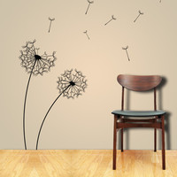 Wall Decals DANDELIONS in the Wind Wall Sticker and by ParisDecals