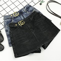 GUCCI Summer New Fashion Letter Leisure Culottes Shorts Women