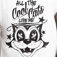 All the Cool Cats Love Me Felix Dead Hipster Swag Vintage Cartoon replica T-shirt tee Shirt 70s 80s summer Hot  Mens Ladies cool MLG-1019