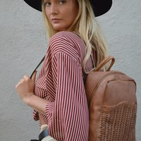 Hitchhiker Vegan Leather Backpack