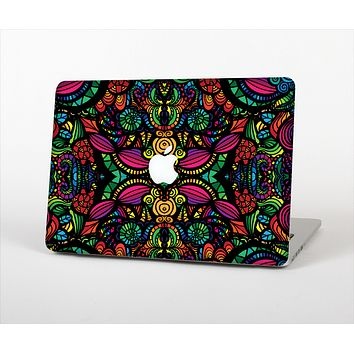 """The Neon Colored Vector Seamless Pattern Skin Set for the Apple MacBook Pro 13"""" with Retina Display"""