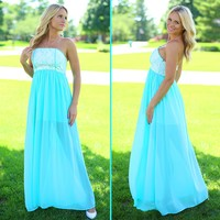 Magnificent in Mint Maxi Dress