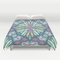 Purple Kaleidoscope Duvet Cover by ArtLovePassion