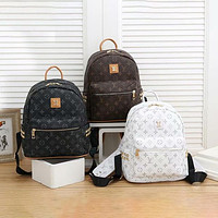 Louis Vuitton Lv New Trend Presbyopia Backpack Super Fire Retro Large Capacity School Bag