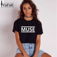 MUSE Letter Print Tops