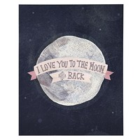 I Love You to the Moon and Back Poster Decal in New Wall Decals   The Land of Nod