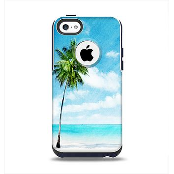The Paradise Beach Palm Tree Apple iPhone 5c Otterbox Commuter Case Skin Set