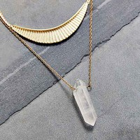 Collective Crystal Layer Necklace