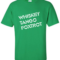Whiskey Tango Foxtrot WTF omg so hipster can't breathe nerd cool funny Printed graphic T-Shirt Tee Shirt Mens Ladies Women Youth Kids ML-266