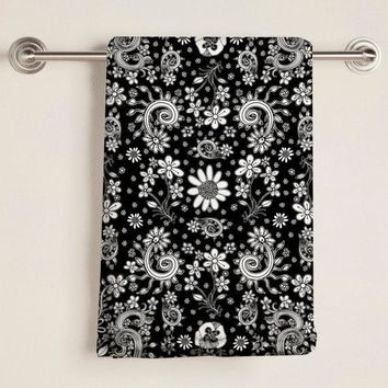 Towel 'BW-floral'