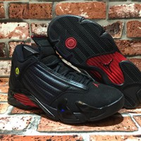 Air Jordan 14 Retro 311832-010 AJ14 Black/Red Sneaker US 8-13