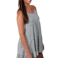 Flowy Stripe Dress - White