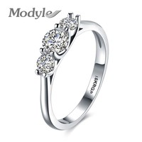 Modyle Trendy Ring Cubic Zirconia Party Wedding Engagement Jewelry Ring Wedding Bands Round Rings for Women