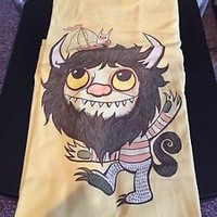 Teefury Men's 2XL XXL Yellow T-Shirt Where the Wild Things Are Wild Rumpus