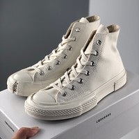 Converse Dior lace casual canvas shoes high-top shoes for men and women