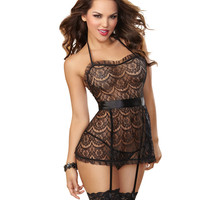 Be My Baby Lace and Organza Babydoll