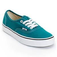 Vans Girls Authentic Deep Lake Teal Shoe at Zumiez : PDP