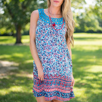 Pattern Paradise Dress, Blue